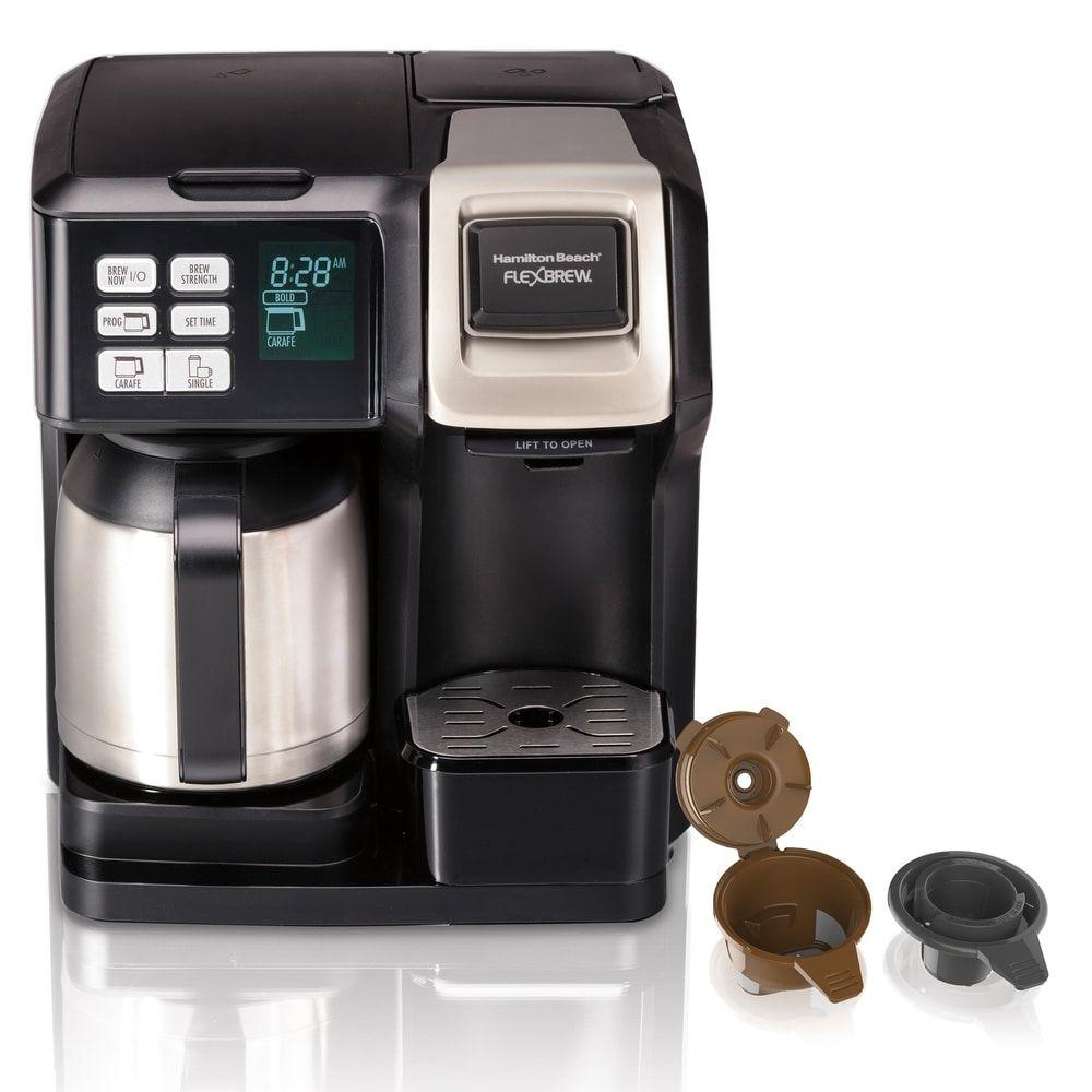 Hamilton Beach Flexbrew 2 Way Thermal Coffee Maker Black Plastic Thermal Coffee Maker Coffee Maker Coffee Maker Reviews