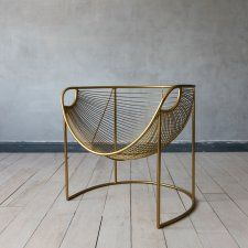 Mulberry Leaf Lounger In Gold