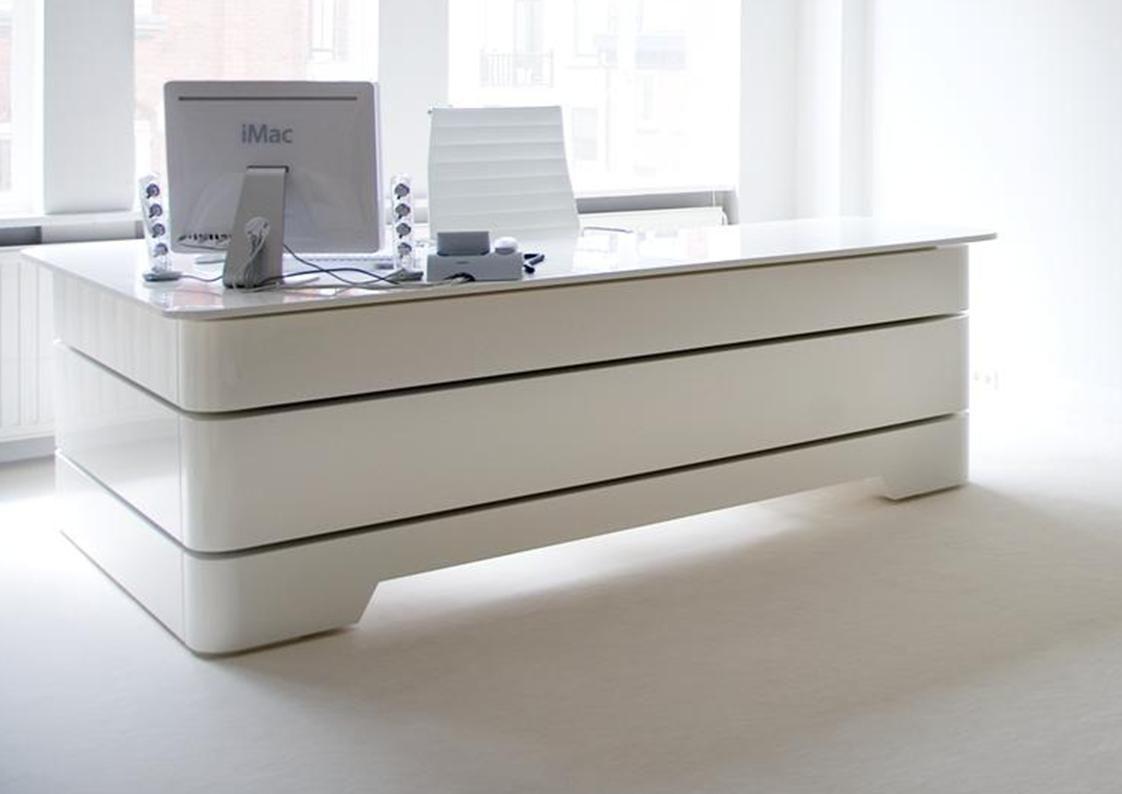 Rknl20 Executive Desk White Executive Desk Executive Office