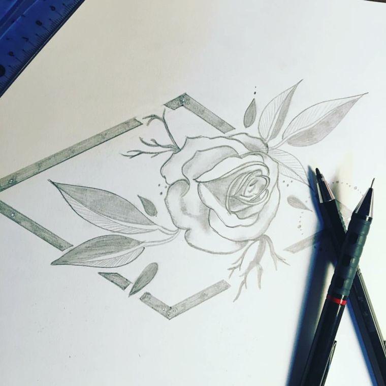 1001 Idee Per Come Disegnare Una Rosa Con Tutorial Disegno