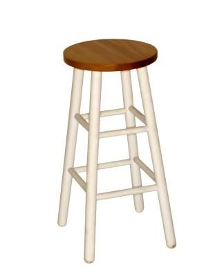 How to Cover a Round Wooden Bar Stool | Wooden bar stools, Wooden ...