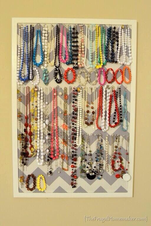 Cork board covered with fabric and framed makes a great jewelry cork board covered with fabric and framed makes a great jewelry holder diy solutioingenieria Choice Image
