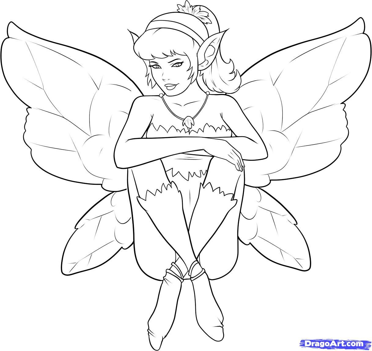 how to draw a fairy step by step fairies fantasy free online