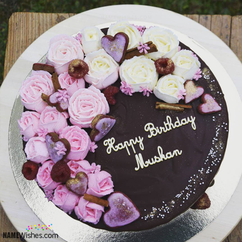 Cookies Birthday Cakes With Name [muskan 😍] in 2019