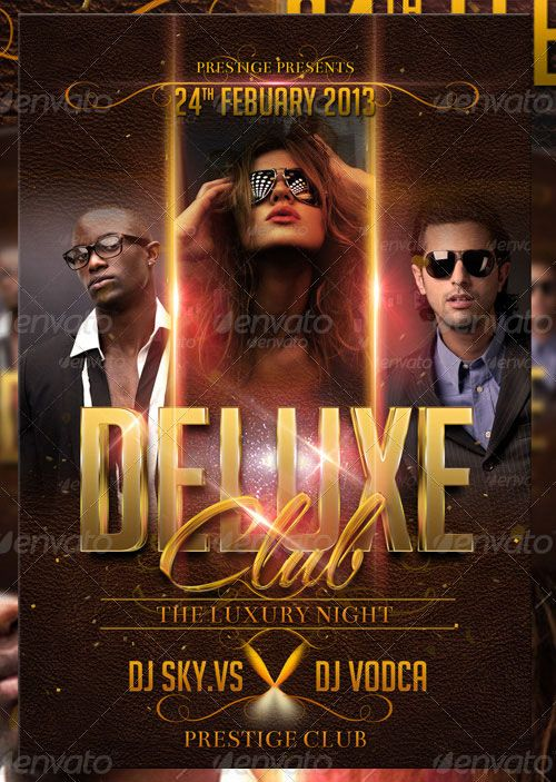 Weekly Featured: Deluxe Club Flyer Psd Template Http://Flyersonar