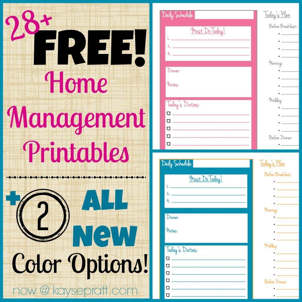 Free Home Management Printables for YOU! - Kayse Pratt