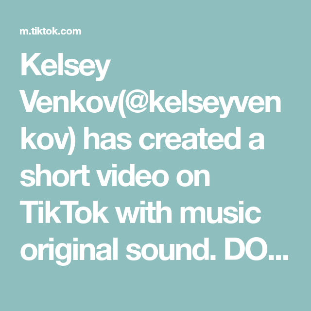 Kelsey Venkov Kelseyvenkov Has Created A Short Video On Tiktok With Music Original Sound Dol In 2020 Dance Choreography Videos The More You Know Choreography Videos