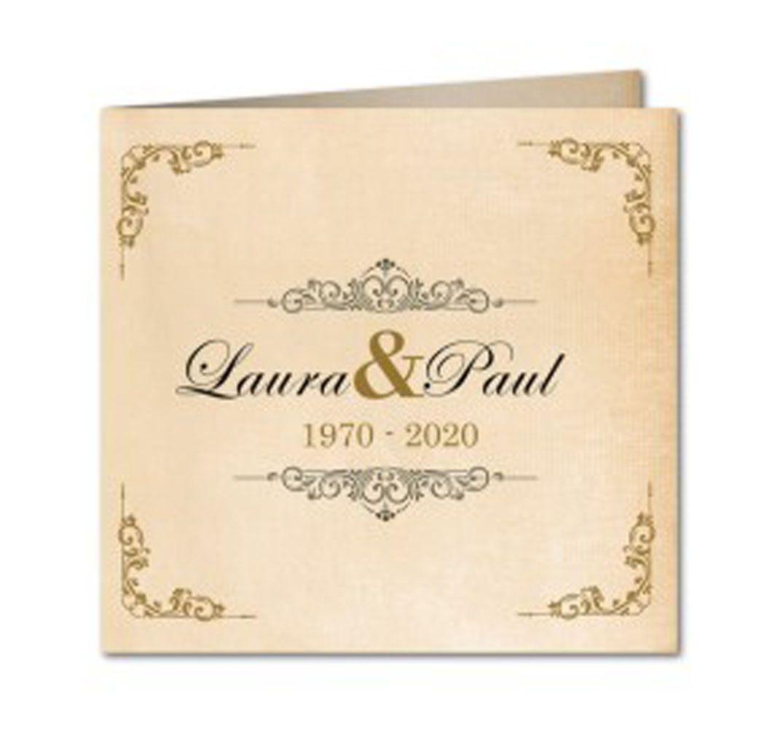 Einladungskarten Zur Goldene Hochzeit
