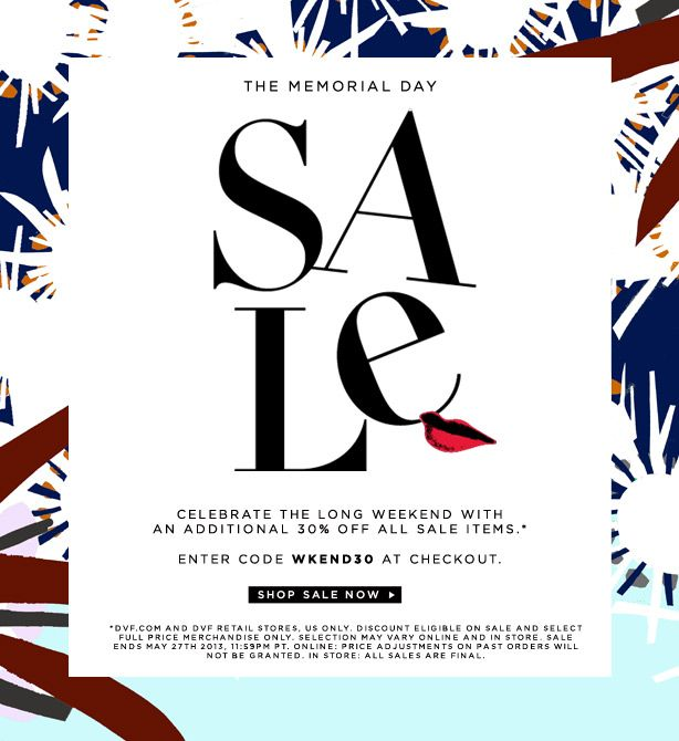 DVF - Take An Additional 30 Off Sale Email \ Newsletter Design - fashion design posters
