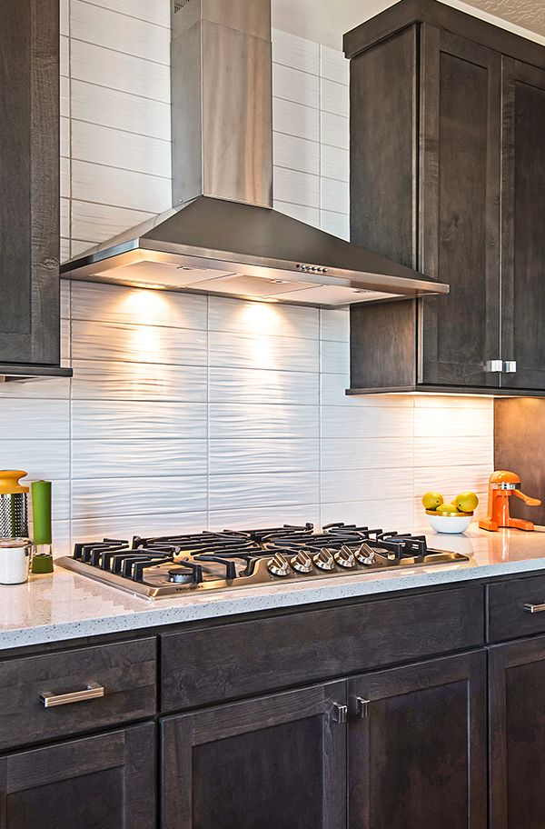 Beautiful Kitchen With White Backsplash And Dark Cabinets Home Design By Candlelight H Backsplash With Dark Cabinets Backsplash Kitchen Dark Cabinets