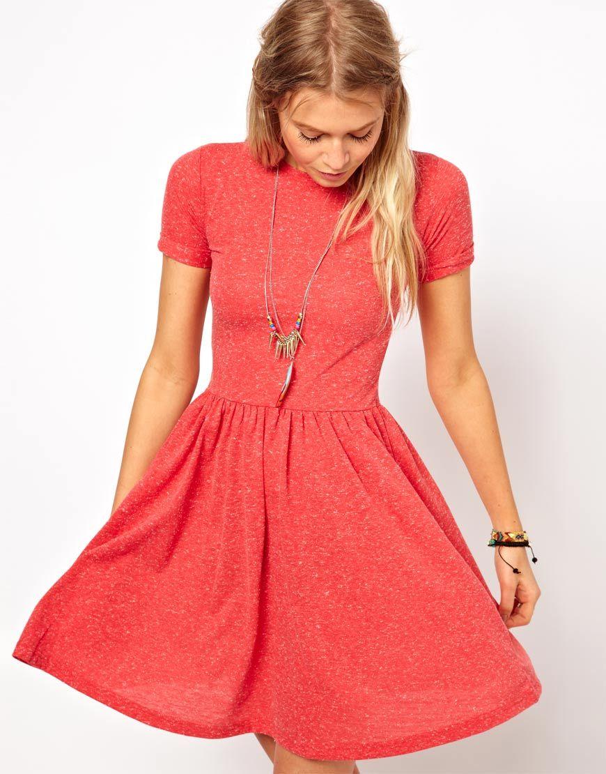 8fe56a91b841 ASOS T-Shirt Skater Dress In Nepi