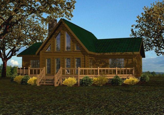 Battle Creek Log Homes Delivers A Range Of Floor Plans Kits For Single Story Log Homes To Customers Nationwi Log Cabin Floor Plans Lake House Plans Log Homes