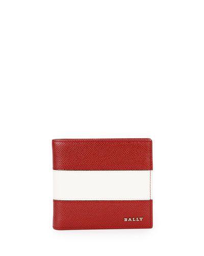 2e2f2b5075cb2 N3NKJ Bally Striped Leather Bi-Fold Wallet