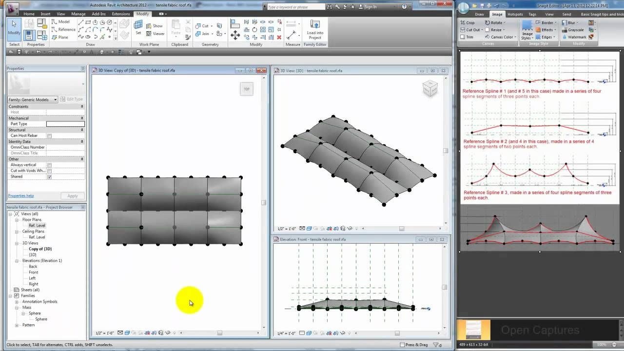 Modeling A Tensile Fabric Roof In Revit Building Information Modeling Architecture Program Revit Architecture