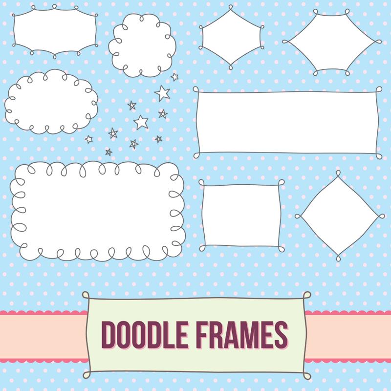 Label Frames No 20 Doodle Frames Doodle Frame Doodles