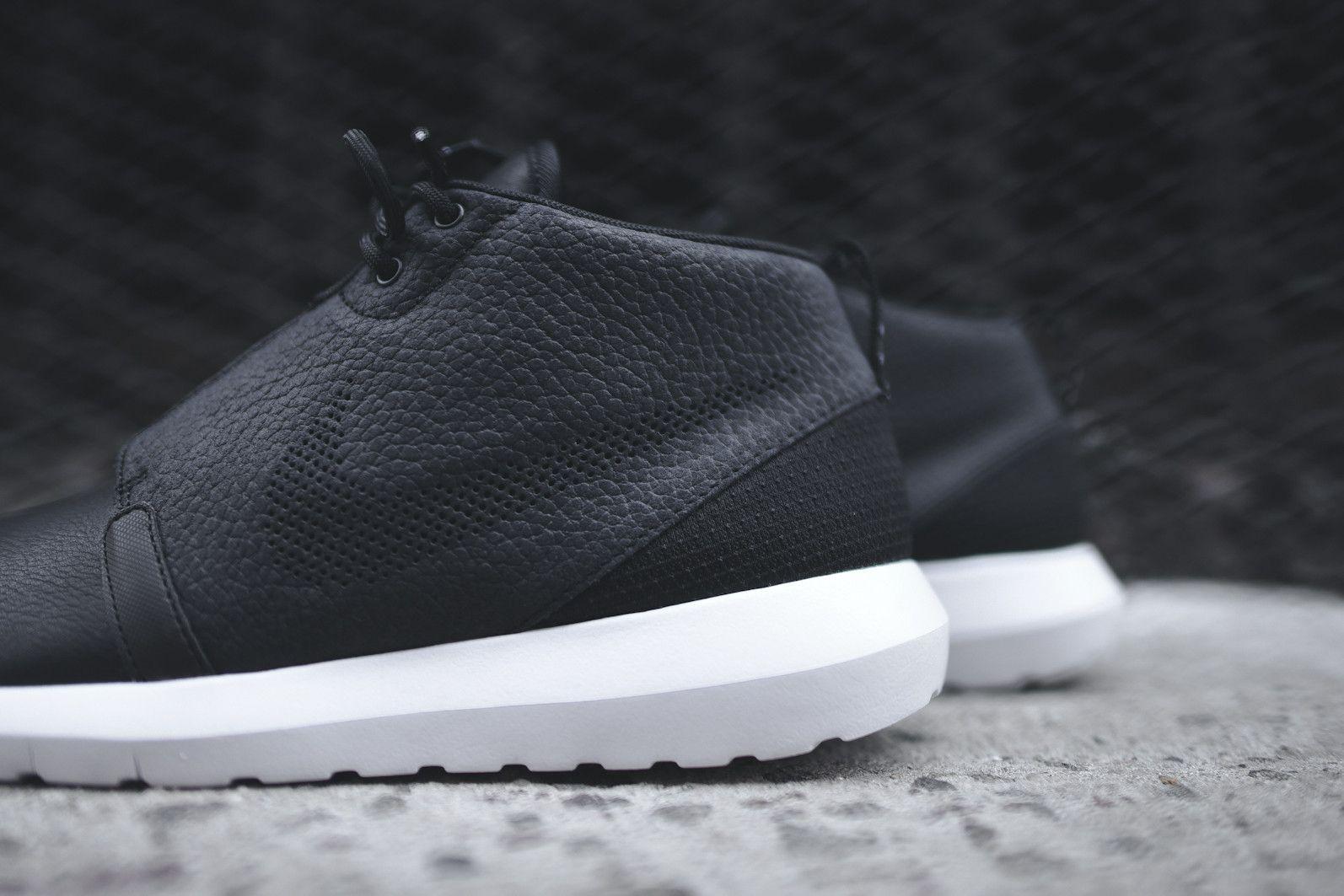 nike roshe run nm sneaker boot - black \/ dark grey \/ white bedroom