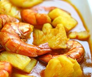 Prawns Curry with Pineapple - Philippines
