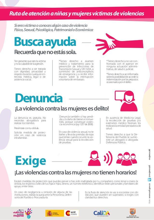 Infografía: Ruta de atención a Mujeres victimas de violencias en Colombia