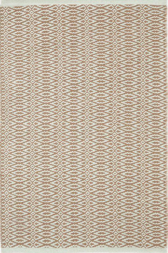 Fair Isle Ocean/Coffee Cotton Woven Rug Rugs, Woven rug