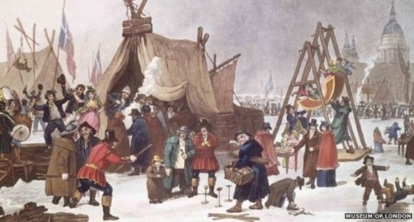 London's 'frost fairs' are a thing of the past – not the future. Image credit: Museum of London