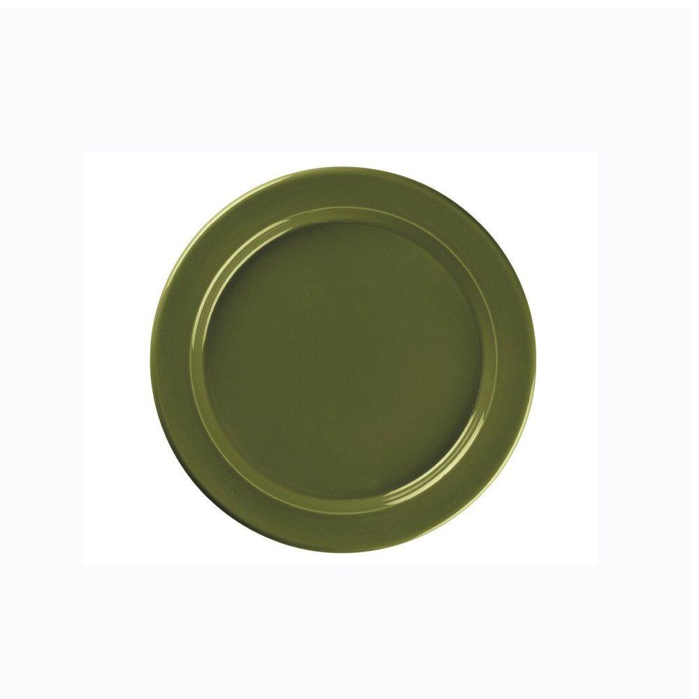 Emile Henry tallerken  28 cm, oliven, Emile Henry 160 kr