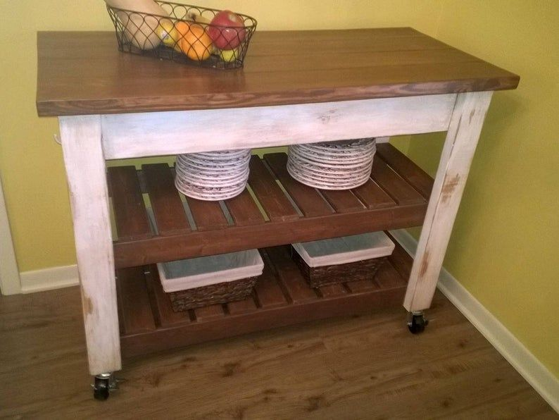 Custom Hand Built Kitchen Island Already Assembled Free In 2020 Build Kitchen Island Refurbished Furniture Updated Kitchen