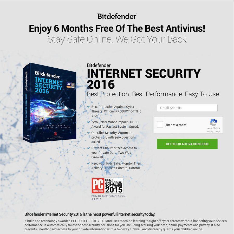 Bitdefender Security 2016 FREE 6 Months License