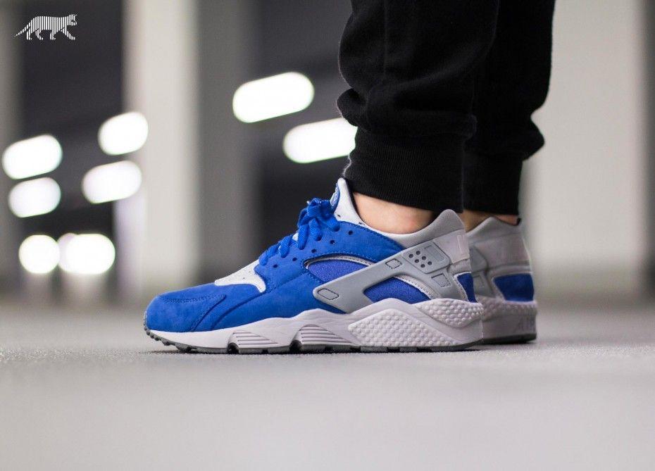 """Nike Air Huarache Run PRM """"Royal Blue/Wolf Grey"""""""