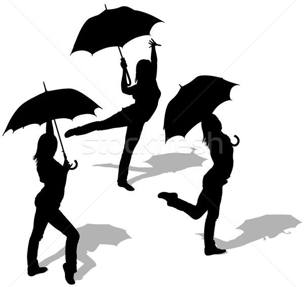 silhouette femme parapluie - Recherche Google | Stencils ...