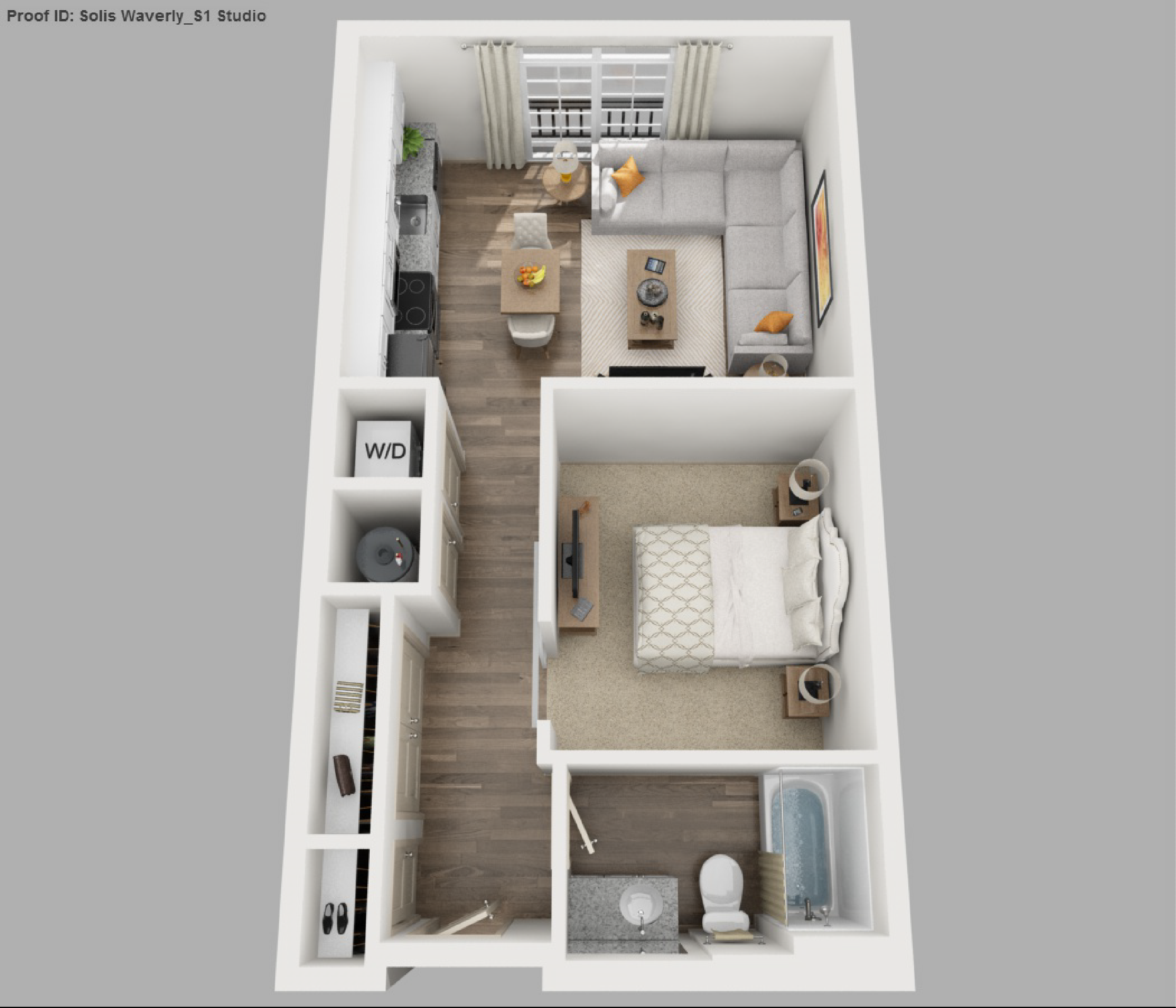 Image result for studio apartment floor plan