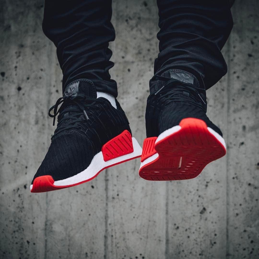 Adidas Nmd R1 Black Red 2017 By Solebox Adidas Nmd Black Addidas Shoes Adidas Nmd Pink