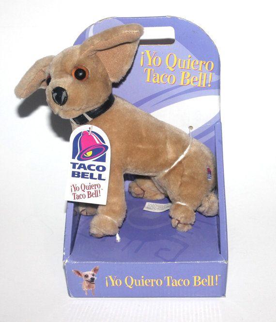 Vintage Nos 90s Yo Quiero Taco Bell Chihuahua Dog Vintage Toys