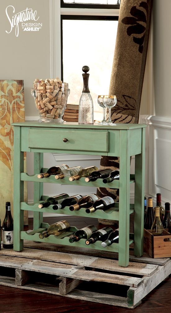 Mirimyn Console Wine Rack Ashley Furniture