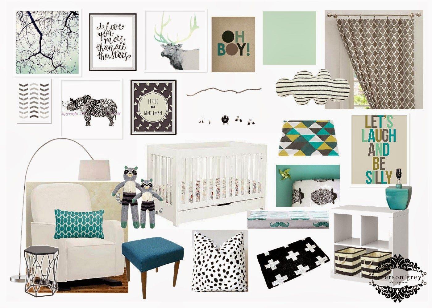 Emerson Grey Designs : Nursery Interior Designer: A minty boy ...