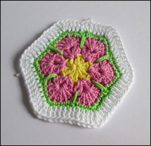 african flower Hexagon afrikanische Blume - kostenlose ...