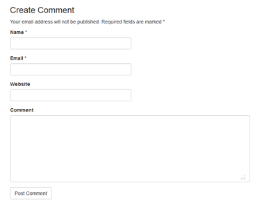 Wordpress Has A Builtin Function CommentForm To Output A Complete