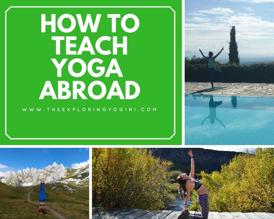 How to Teach Yoga Abroad Teaching yoga, Teaching, Yoga