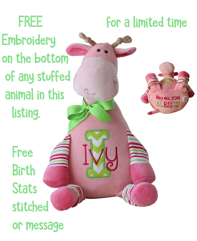 Personalized Stuffed Animal Birth Announcement Stuffed Animals