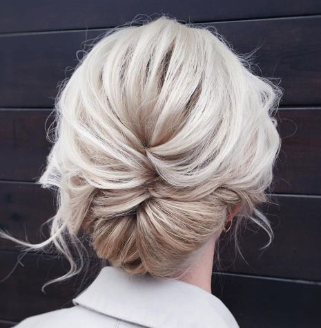 60 Trendiest Updos for Medium Length Hair #loosebraids Loose Braid-to-Bun Updo #loosebraids