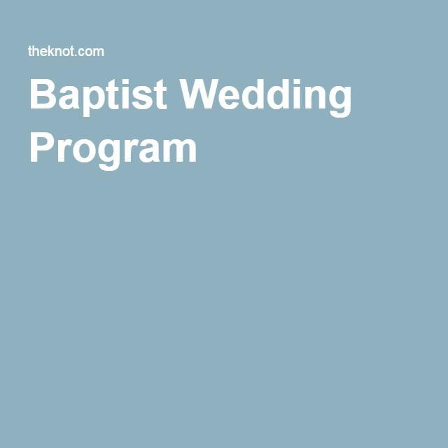 Sample Wording For A Baptist Wedding Program Wedding Programs Wedding Program Examples Wedding Ceremony Traditions