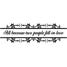 All Because Two People Fell In Love Vinyl Wall Decal Set Bed - Vinyl wall decals bed bath and beyond
