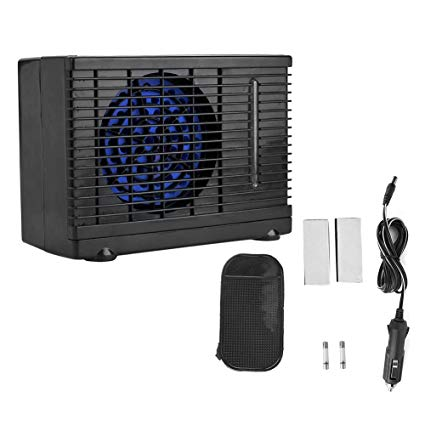 Qii lu 12V Portable Air Conditioner Fan,Car