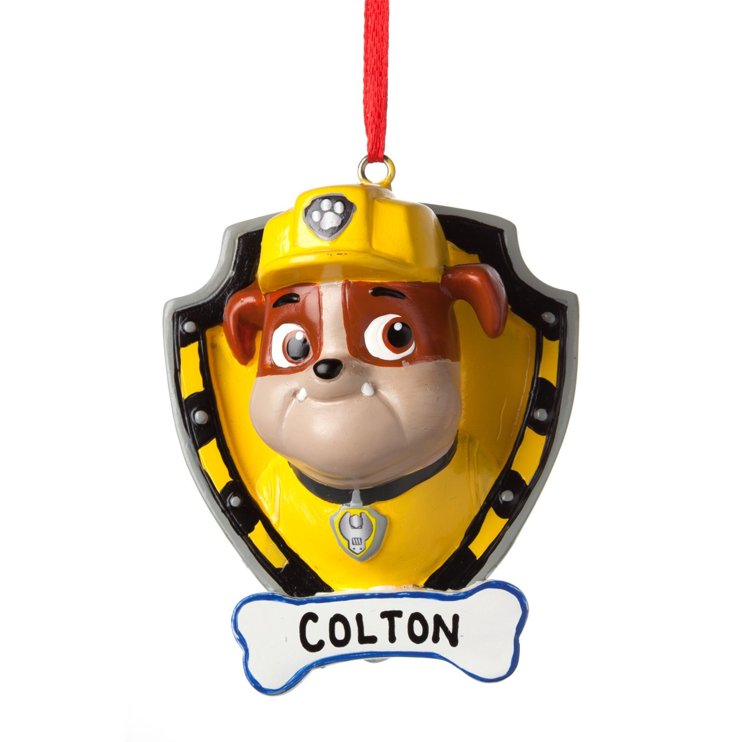 Personalized ornaments for kids - Add Some Personalized Fun To Your Tree With Our Ornament Featuring Rubble From Paw Patrol