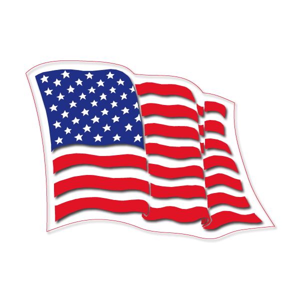 Bandera Usa Pegatinas Bandera Americana Pegatinas De Vinilo
