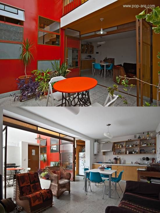 Interiores del PH desde el patio y hacia el exterior   casa nueva ...