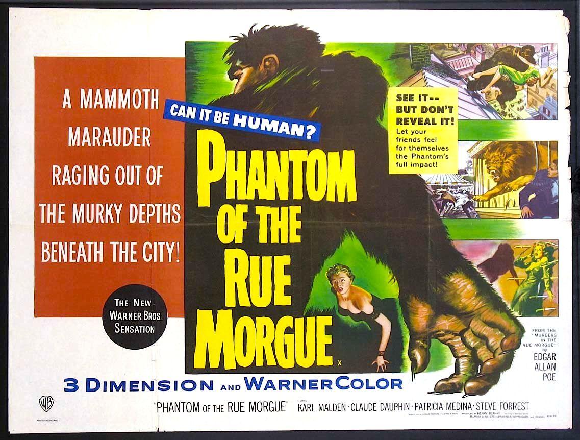 1954's Phantom of the Rue Morgue was the classic Poe killer ape ...