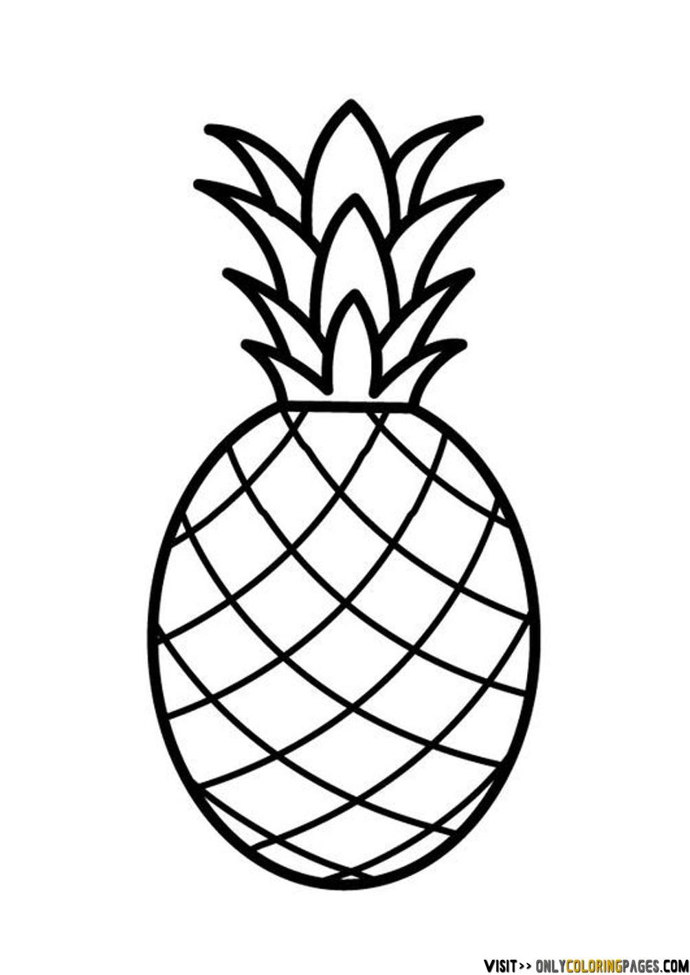 pineapple coloring page | Only Coloring Pages | Youth Jewelry ... for Clipart Pineapple Black And White  111ane