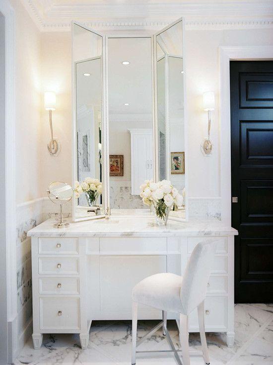 Jamie Herzlinger  Bathrooms  Chic Bathroom Luxurious Bathroom Fair Bathroom Crown Molding 2018