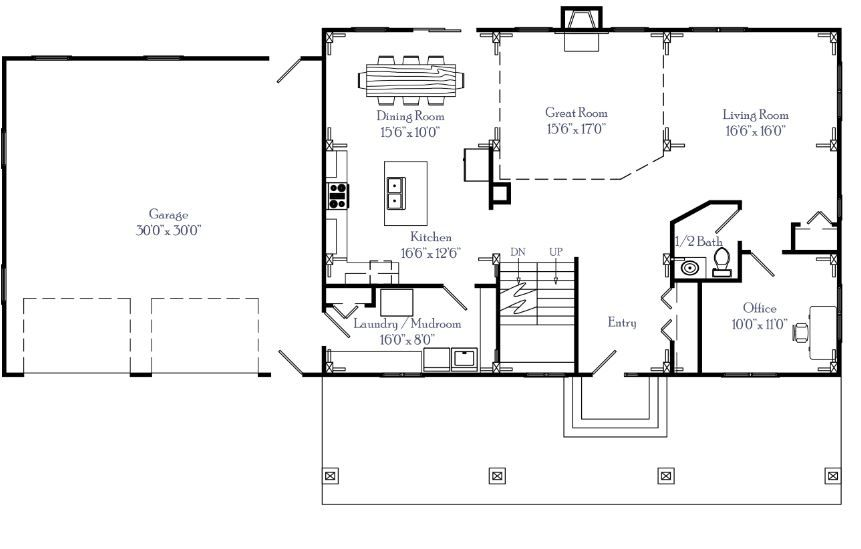 The Rectangle Timber Floor Plan By Clydesdale Frames Co Lan Floor Plans Timber House Rectangle House Plans