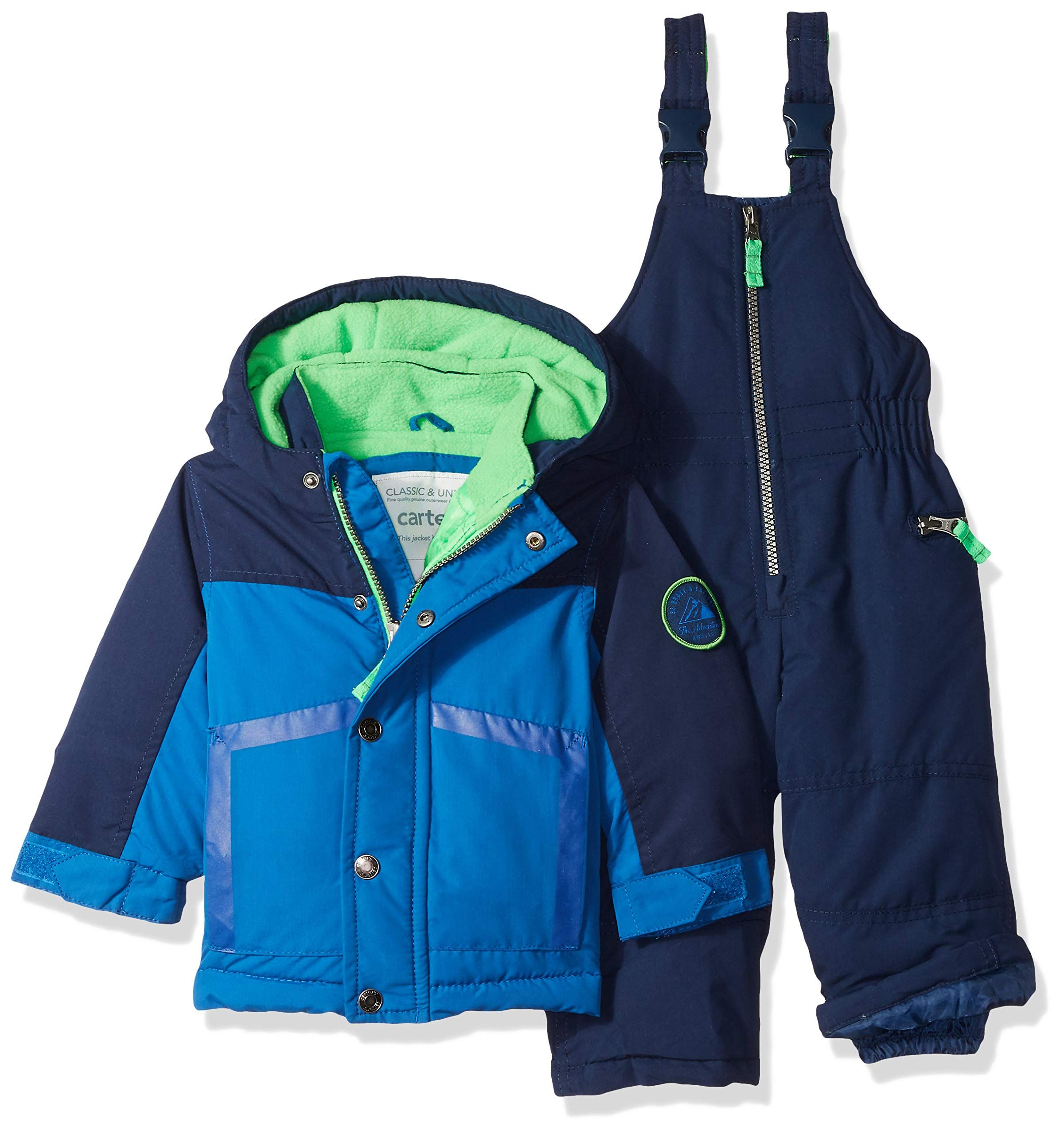 53931a512761 Carters Baby Boys Heavyweight 2Piece Skisuit Snowsuit House Blue ...